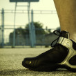 Stock Photo: Basketball shoes