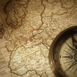 Royalty-Free Stock Photo: Vintage compass on a map