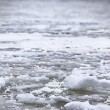 River Volga in winter time(very cold day) — Stock Photo
