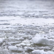 River Volga in winter time(very cold day) - Stock Photo