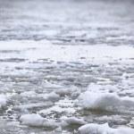 River Volga in winter time(very cold day) — Stock Photo