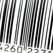 Barcode in close up - Stock Photo