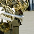 Stock Photo: Army brass band on Victory day in Russia