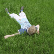 Boy on the green grass — Stock Photo
