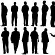 Businessmen group(great for your design) - Stock Photo