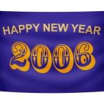 Happy New Year banner — Stock Photo