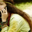 Royalty-Free Stock Photo: Hippie on the phone