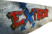 Extreme graffiti — Stockfoto