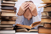 Tired reader — Stock Photo