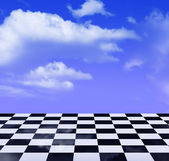 Sky and chess — Stock Photo