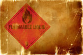 Flammable liquid sign(warm background) — Stok fotoğraf