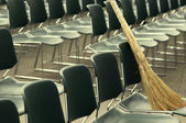Besom and chairs — Stock Photo