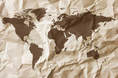 Paper background with map — Stock Photo