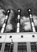 Industriële leidingen — Stockfoto