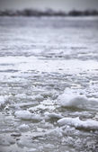 River Volga in winter time(very cold day) — Foto de Stock