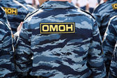 OMON (Russian special police squad) — Stock Photo