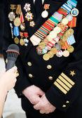 Veteran of Great Patriotic war — Stock Photo