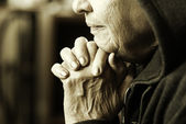Eldery woman — Stock Photo