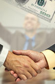 Handshake(special fx) — Stock Photo
