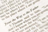 Jezus w drodze do fahter — Zdjęcie stockowe