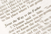 Jesus the Way to the Fahter — Stock Photo