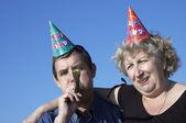 På party — Stockfoto