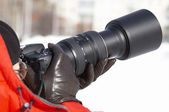 Winter-shooting — Stockfoto