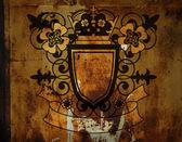 Emblem with flowers — Foto de Stock