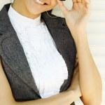年轻的快乐女商人 — 图库照片