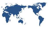 Mappa mondo isolato — Foto Stock