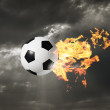 Flaming Soccer Ball — Stock Photo