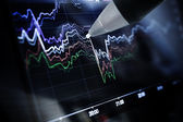 Business charts and markets — Stock Photo