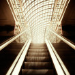 Empty escalator stairs - Stock Photo