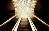 Empty escalator stairs — Stock fotografie