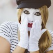 Female Mime — Stock Photo