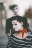 Unhappy mime — Stock Photo