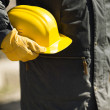 Builder with yellow hard-hat — Stock Photo #44446331