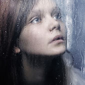 Watching the rain — Stock Photo