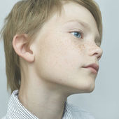 Boy with freckles — Stock Photo