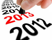 Step Into The Next Year 2013 — Stock Photo