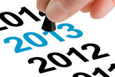 Step Into The New Year 2013 — Stock Photo