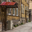 Awning Architecture in the Downtown of Tallinn — Stock Photo