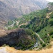 Canyon in Armenia near Temple Garni — Stock Photo