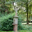 Stock Photo: Grave cross in burgpark of castle gleuel, germany