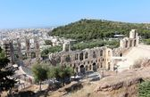 Acropolis of Athens, Odeon of Herodes Atticus — Stock Photo