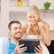 Happy couple at home — Stock Photo #12550768