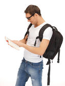 Travelling student — Stock Photo