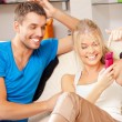 Happy couple at home — Foto Stock