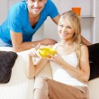 Happy couple at home — Stock Photo #12592066