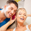 Happy couple at home — Stock Photo #12619855